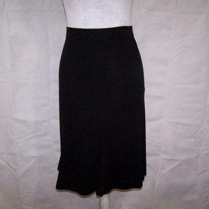 Exclusively Misook Skirt PM Flared Elastic Waist